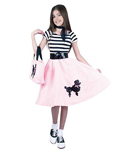 (CHILD X-Large 12-14 - Pink 50s Poodle Skirt (Skirt)