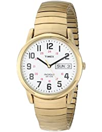 Mens T20471 Easy Reader Gold-Tone Stainless Steel Expansion Band Watch