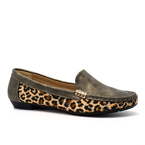 London Footwear - Sandalias con cuña mujer gris