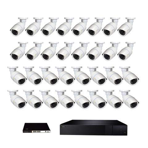 (Q see 32 Channel 4K NVR System with 32 4MP Bullet Cameras and 8TB HDD)