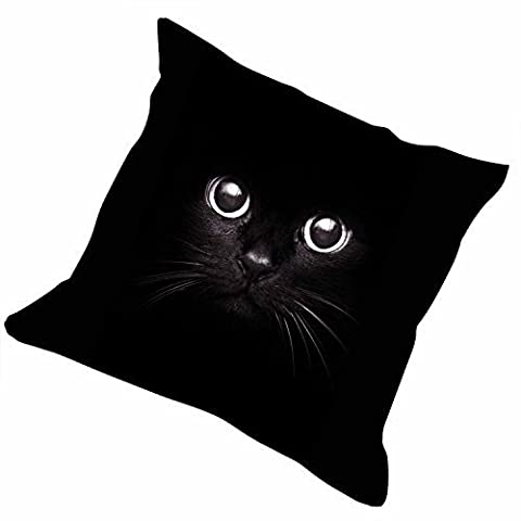 Slimmingpiggy Comfortable Bedding Cat in black background 16X16 Inch Pillow Case (Packers Rocking Chair)