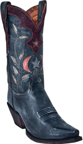 Dan Post Womens Rustic Black Star and Moon Western Boots DP3553 (DP3553M6.5) 1l9rB0Vzq