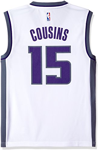 NBA Men's Sacramento Kings DeMarcus Cousins Replica Player Home Jersey, X-Large, White - Kings White Jersey