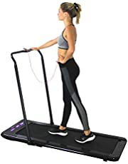WalkSlim 470 Foldable Motorised Home Treadmill - Office Desk Walking Treadmill - LED Touchscreen, Calorie Counter, Remote Control, Foldable & Compact