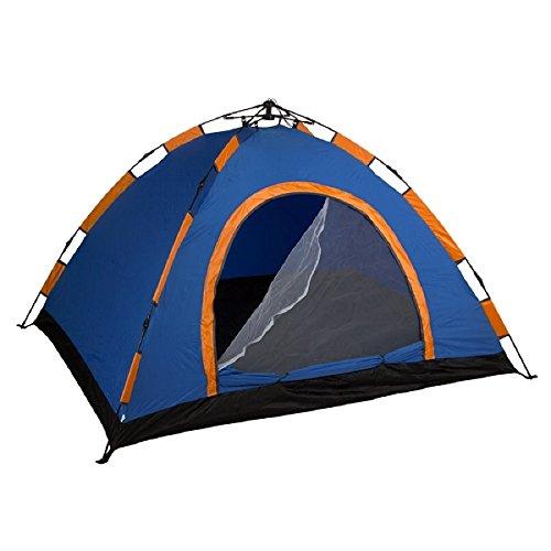 Aktive Zelt Kuppelzelt 200 x 150 cm für 3 Personen, selbst zusammenbaubar und Blau (85076)