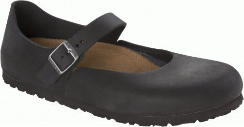 Birkenstock Shoes ''Mantova'' from Leather in Black 42.0 EU N