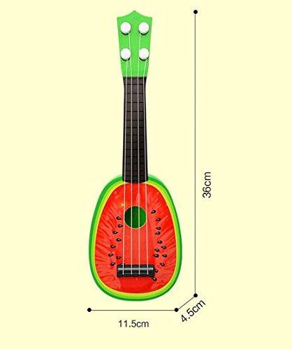 [해외]수박 어린이 기타, 어린이를위한 4 현악기/Watermelon Kid Guitar, 4 string Music Toys for Children