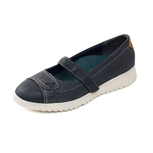 Padders Women's Leather Plimsoll 'Request' | Extra Wide EE Fit | Free Footcare UK shoehorn Grey Moieiz
