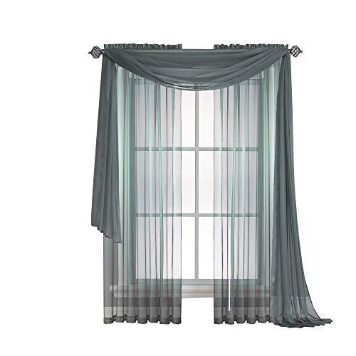 Amazon.com: Warm Home Designs Pair Of Short Dusty Blue