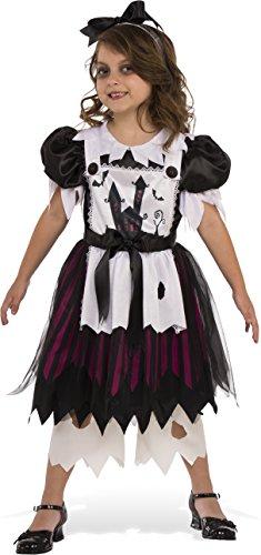 Rubies Costume Child's Little Broken Doll Costume, Medium, Multicolor - Scary Broken Doll Costume