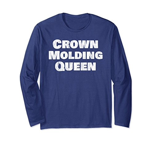 Distressed Molding (Unisex Crown Molding Queen - Wood Grain Distressed Large Navy)