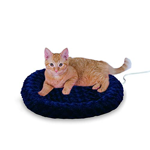 (K&H Pet Products Thermo-Kitty Fashion Splash Heated Pet Bed Blue 18