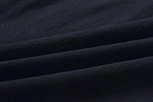 Été Bewish Robe Midi Bouton Sangle Spaghetti Imprimé Floral Bande Vers Le Bas Robe Avec Des Poches Avant Noir Jh00178