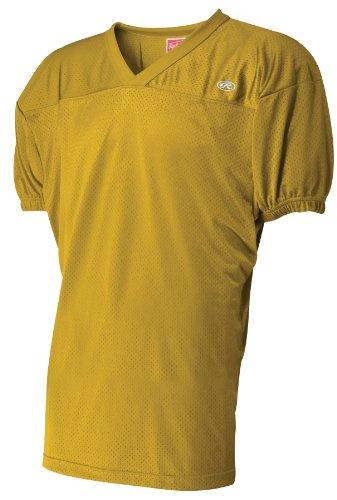 (Rawlings Men's Fj55Fe Football Jersey (Light Gold, X-Large))