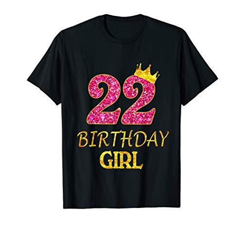 22nd Birthday Girl Princess Shirt 22 Years Old 22nd Gift T-Shirt