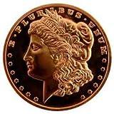 Morgan Silver Dollar 1oz .999 Fine Copper Bullion Coin By Copper Carr