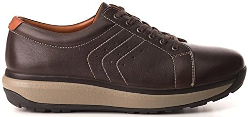 Leather Caesar Chocolate Shoes Mens Joya
