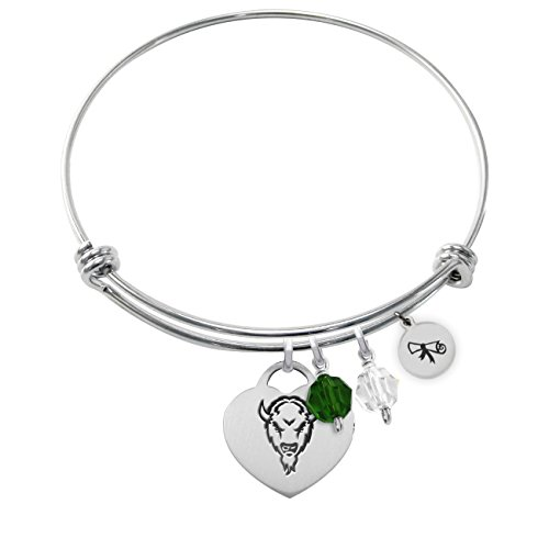 (Marshall University Thundering Herd Adjustable Graduation DIPLOMA Bracelet With Heart)