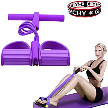 Tofreedomwind Multifunctional Double Spring Tension Foot Pedal Elastic Pull Rope Fitness Equipment Bodybuilding Expander for Abdomen//Waist//Arm//Leg Stretching Slimming Training