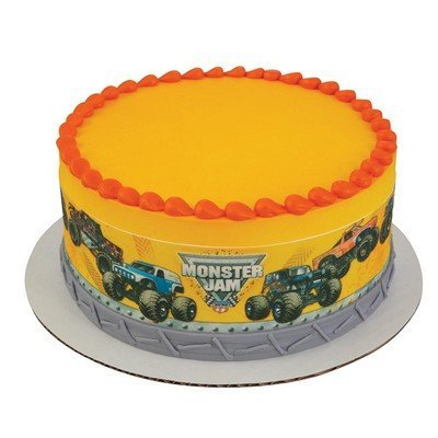 Whimsical Practicality Monster Jam Built to Crush Edible Icing Image Cake Border Strips