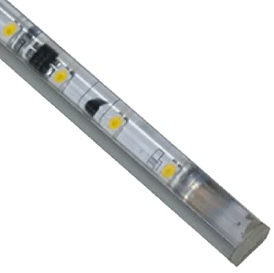 "Jesco Lighting S601-12/60 LED Slim Stix 12"" Linkable Cove Display Light Strip, 6000K Color, Aluminum Finish"
