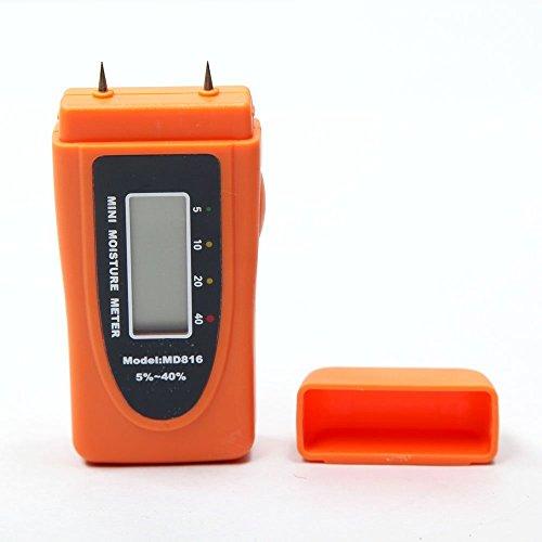 デジタルメーター デジタル木湿度計 携帯便利 軽量 ポータブル水分計 木材含水率5%〜60%を検出 2ピン MD816 MD816 高精度テスター (Style : MD816)
