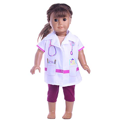 - Miss Nurse Accessories Set Toys Doll Clothes Wardrobe for 18 Inch Wellie Wishers American Girl Dolls