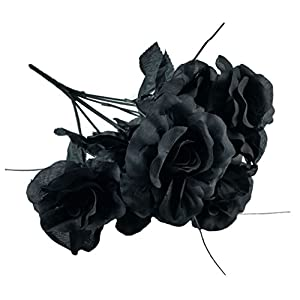 Artificial Black Roses Bouquet 88
