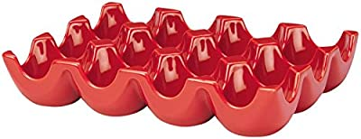 Rachael Ray Stoneware 12-Cup Sittin' Pretty Egg Tray