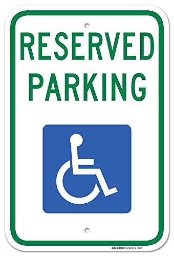 Handicap Parking Sign - With Picture Of Wheelchair Federal 12
