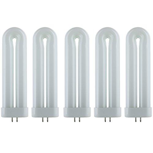 - Sunlite FUL12T6/CW/5PK Fluorescent 12W Cool White U Shaped FUL Twin Tube Plugin Lamps,  GX10Q Base, 4100K Cool White, 5 Pack