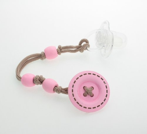 有名ブランド Pink Pacifier Wooden Button Jeanky Pacifier Button Clip B00GC3982U by Crystal Dream B00GC3982U, musicfarm:811a3892 --- a0267596.xsph.ru