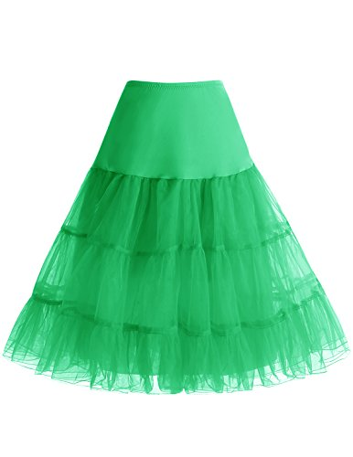 50 4 anne Jupon Femme Tailles Style Rockabilly Vert Choisir Bbonlinedress Jupon wCBPqIxS