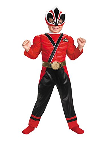 Power Rangers Samurai Toddler Boys Red Ranger Muscle Costume 2T - Samurai Ranger Costume