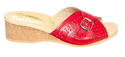 Sandal Worishofer 251 Women's Leather Red qfqFcryH