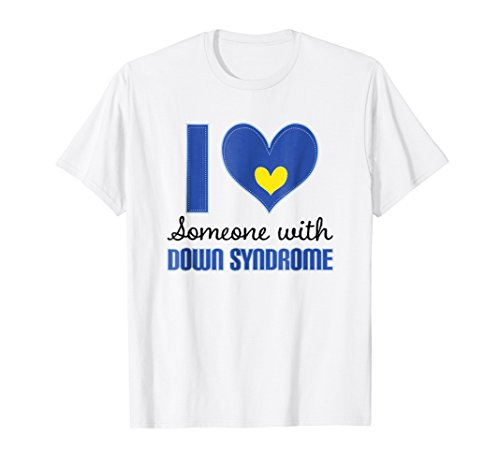Price comparison product image I Love Someone With Down Syndrome Blue Text T Shirt
