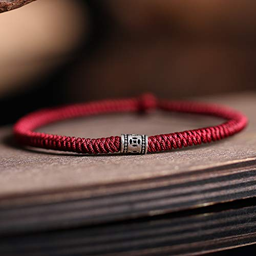 Custom Fashion Model 925 fine Silver Foot Chain Anklet Ankle Bracelet Jewelry Diamond Knot red String Lucky Evil Transit Rope Men Women Girls Couple Girlfriends Hand Message Size red