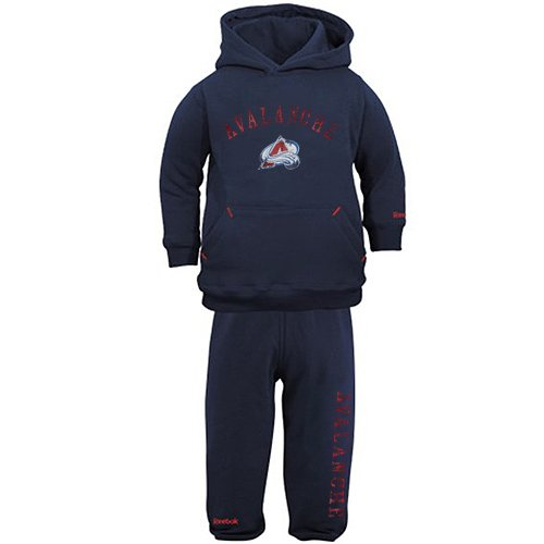 NHL Reebok Colorado Avalanche Infant Pullover Fleece Hoodie & Pants Set - Navy Blue (12 Months) (Avalanche Hockey Pants)