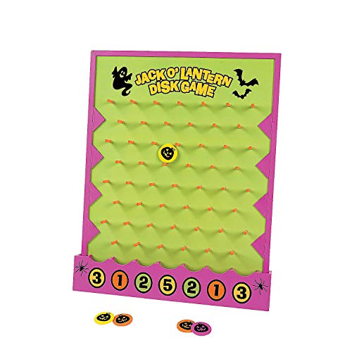 Fun Express - Halloween Disk Drop Game for Halloween - Toys - Games - Carnival & Bingo - Halloween - 7 Pieces -