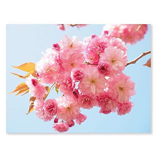 Mon Art Cherry Blossom Canvas Print Pink Flower Canvas Wall Art Oriental Cherry Sakura Picture Modern Wall Decor for Girl's Room Living Room Bedroom Kid's Room Nursery Daughter's Gift 12