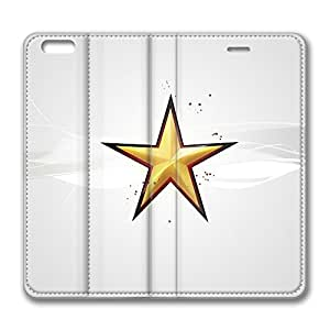 iPhone 6 4.7inch Leather Case, Christmas Star Silver Personalized Protective Slim Fit Skin Cover For Iphone 6 [Stand Feature] Flip Case Cover for New iPhone 6 wangjiang maoyi