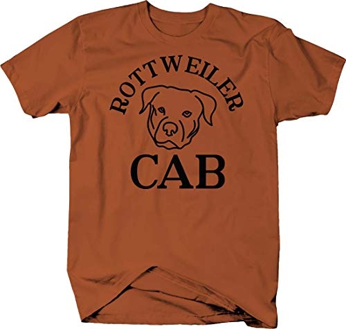 Rottweiler cab Silhouette Funny Dog pet Owner Driving car Love Tshirt Medium