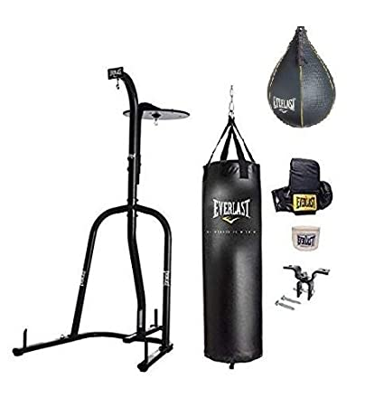 ceace5a9ab7 Amazon.com  Everlast Dual Station Heavy Bag Stand Value Bundle (70 ...