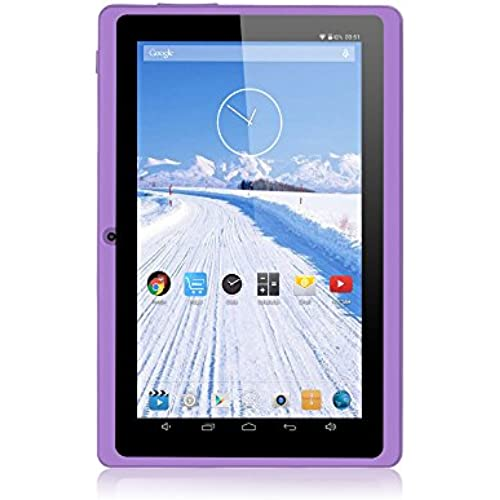 iRULU eXpro X1 7 Inch Google Android Tablet PC, 1024x600 Resolution, 16GB Nand Flash, Wi-Fi, Games, Dual Cameras (Purple) Coupons