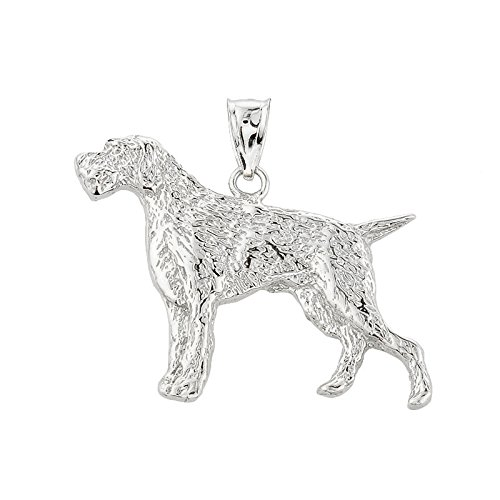10 ct 471/1000 Or Blanc Allemand Pointer- Pendentif