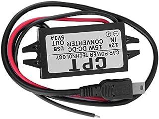 BFHCVDF CPT-UL-8 Car Vehicle Power Single Mini USB Adapter Converter Black