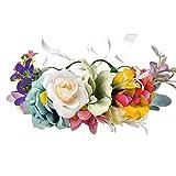 DreamLily Maternity Woodland Photo Shoot Peony Flower Crown Hair Wreath Wedding Headband BC44 (Style 7 Cloroful Bloomy)