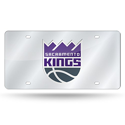Rico Industries NBA Sacramento Kings Laser Inlaid Metal License Plate Tag by Rico Industries