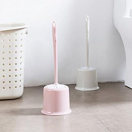 Hosaire 1Pcs Brosse de Nettoyage Manche Longue Port/ée Brosse de Toilette avec Base Supports Brosses WC de Gap Brosse Accessoires Salle de Bain Couleur al/éatoire