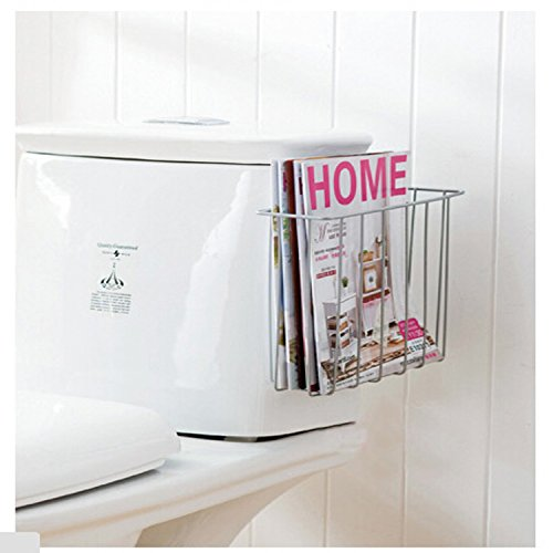 bathroom magazine rack wood - 8